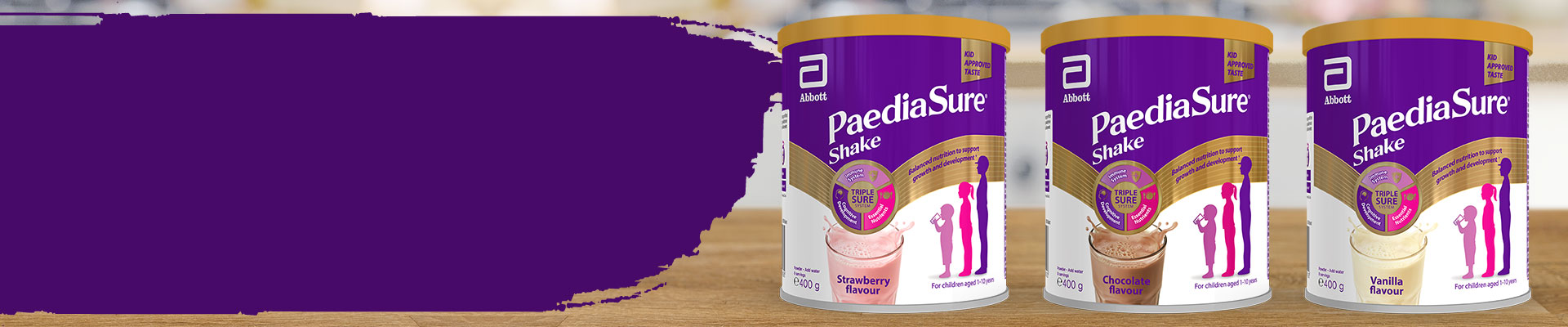 PaediaSure Shake powder flavours